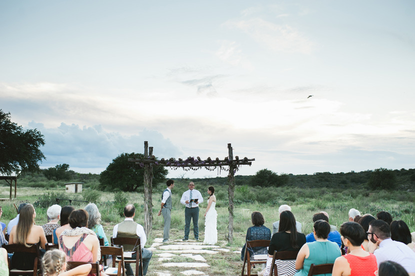 sunset wedding ceremony texas