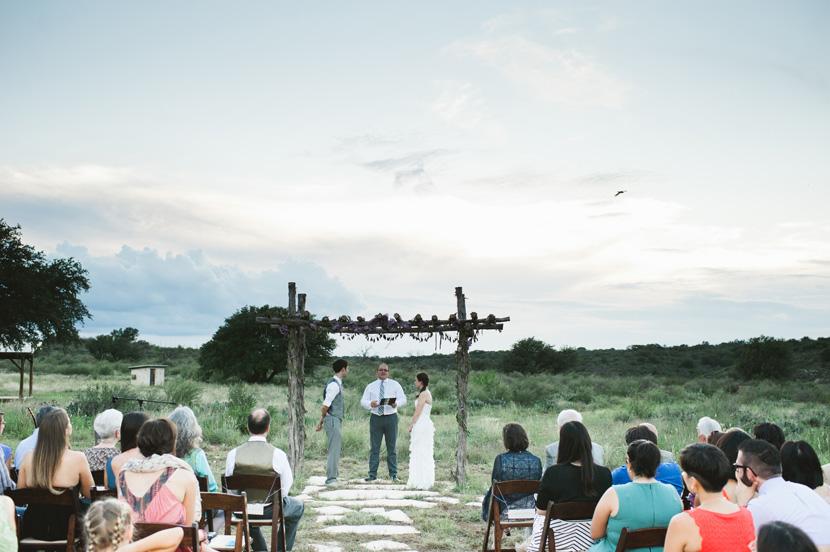 sunset wedding ceremony texas