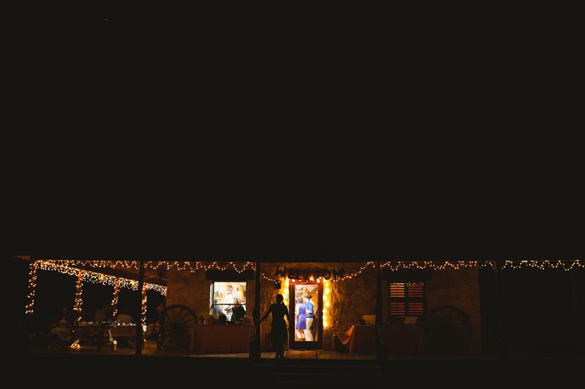 ranch wedding after dark