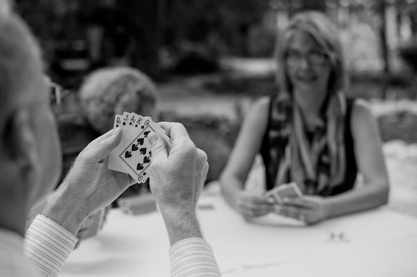 card games at wedding