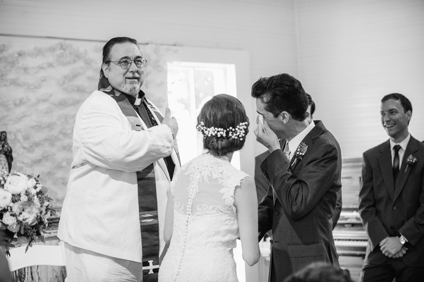 emotional groom wedding pictures