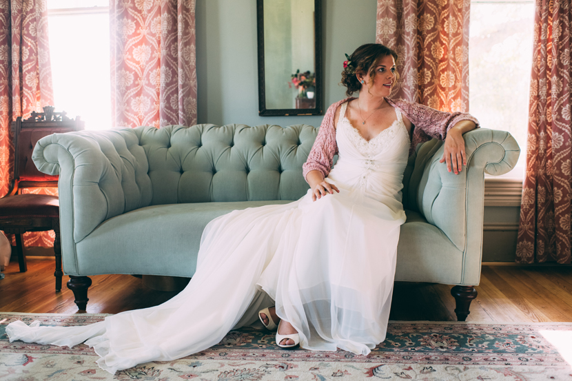 bride on a fainting couch