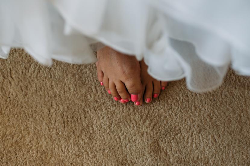 hot pink wedding nail polish