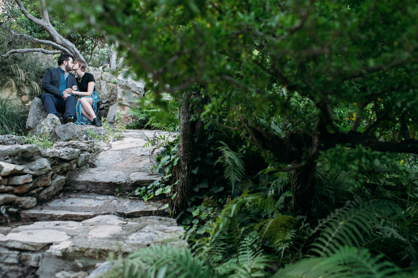 garden engagement session austin