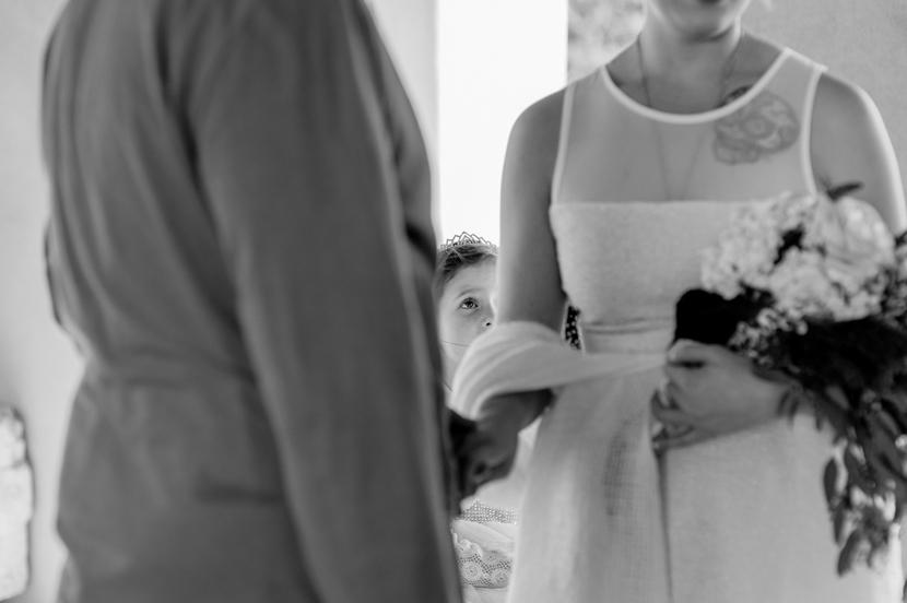 bride groom with children