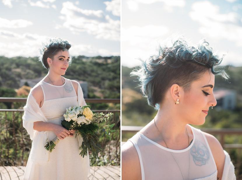 dyed hair bride