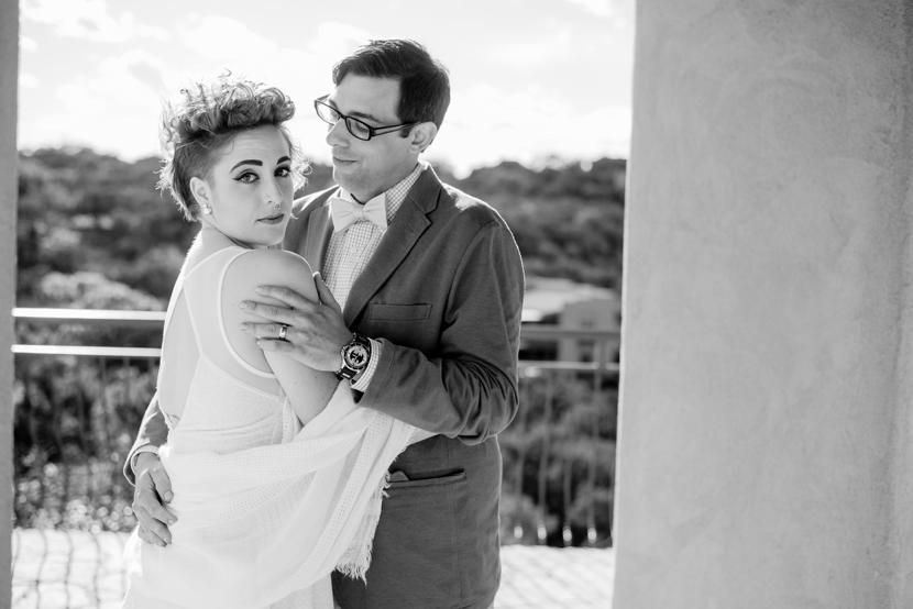 offbeat wedding couple