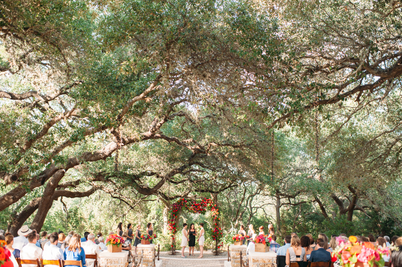 camp lucy sacred oaks outdoor ceremony