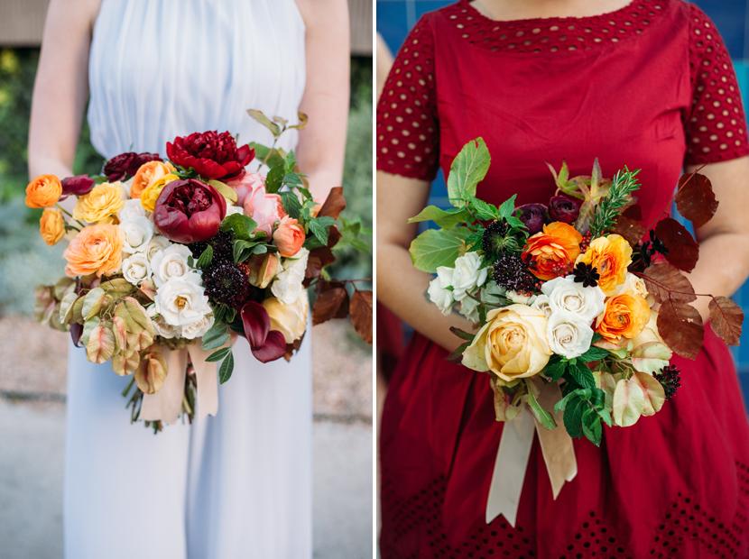 bird dog wedding florals