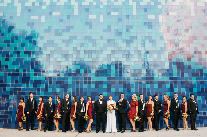 downtown austin wedding party fun