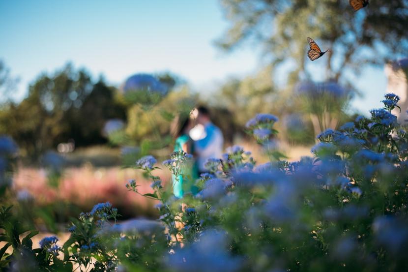 lbj wildflower engagement photo