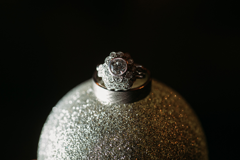 flower shaped engagement ring