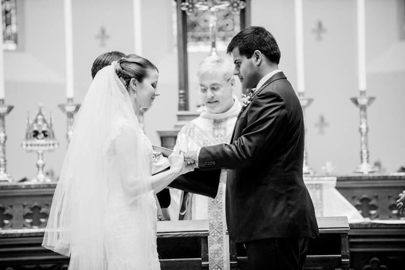 cross cultural catholic indian wedding ceremony