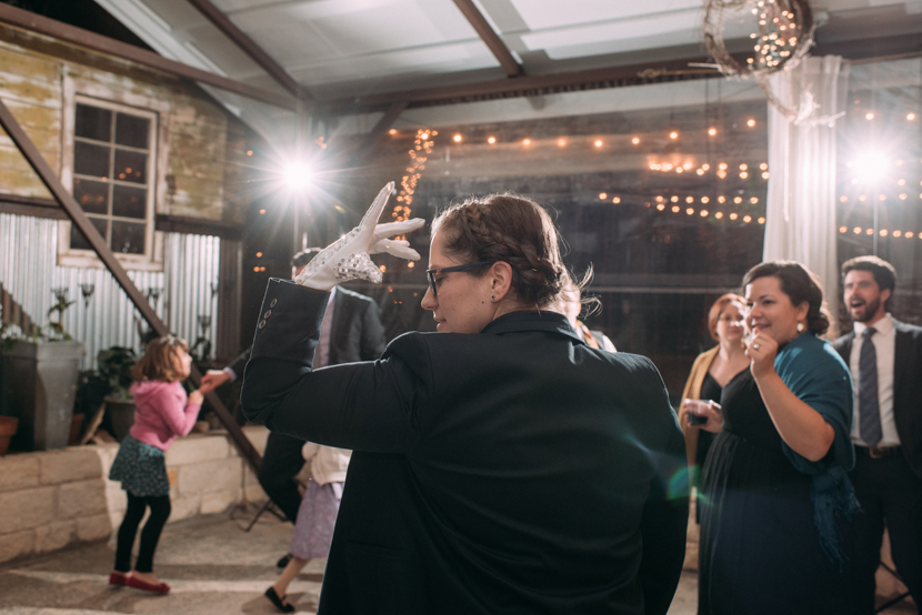 lively dancing at wedding reception