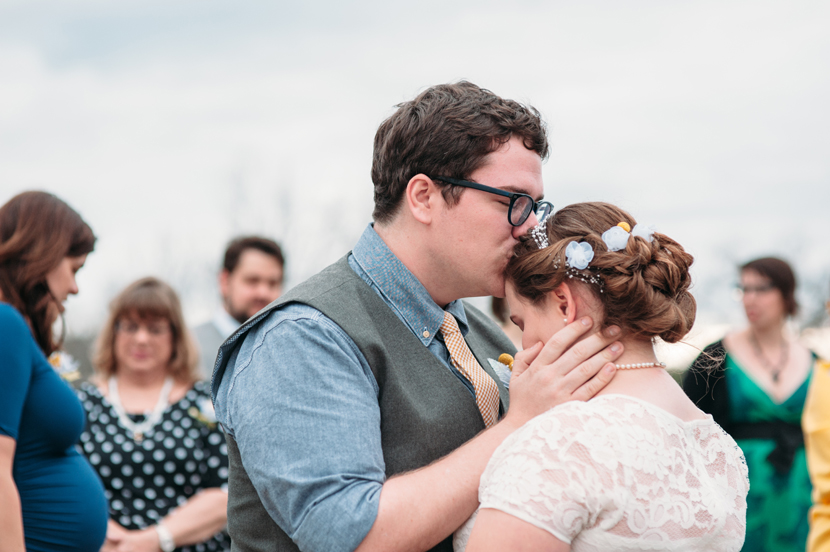 sweet after-ceremony moment