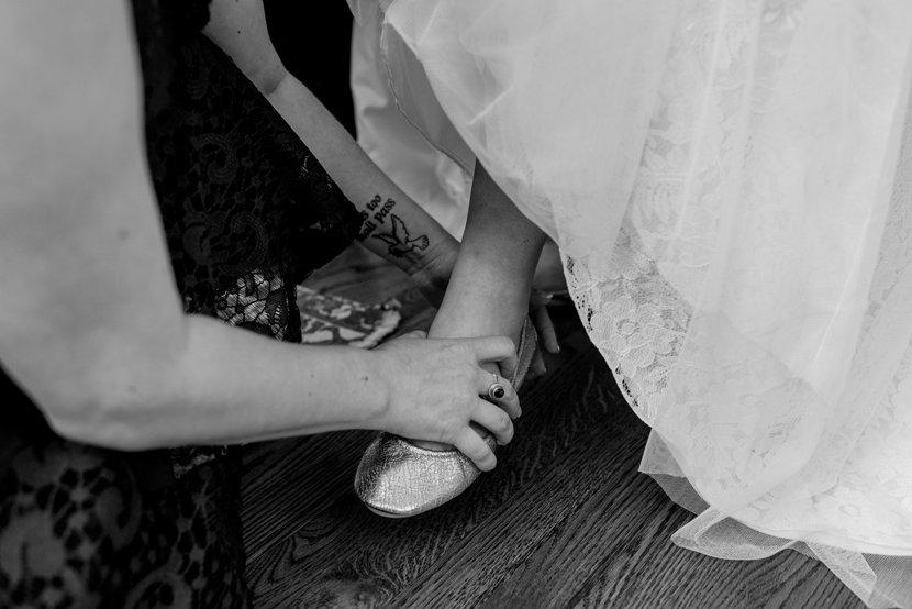 brides wearing flats