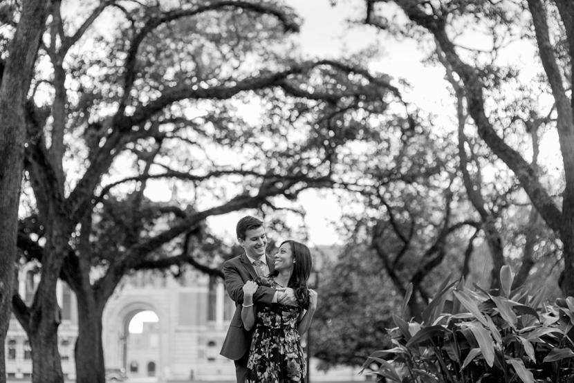 rice university houston engagement session