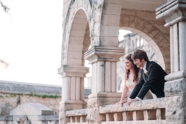 chateau bellevue bride groom