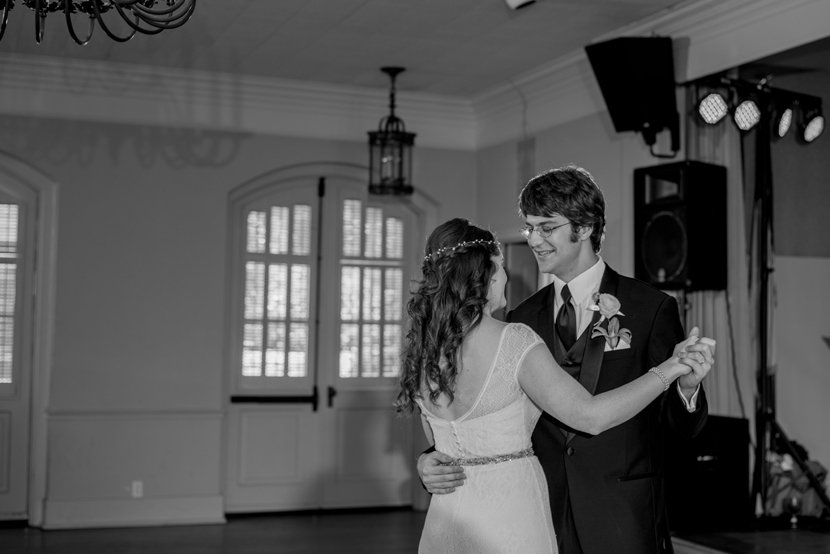 indoor wedding dance