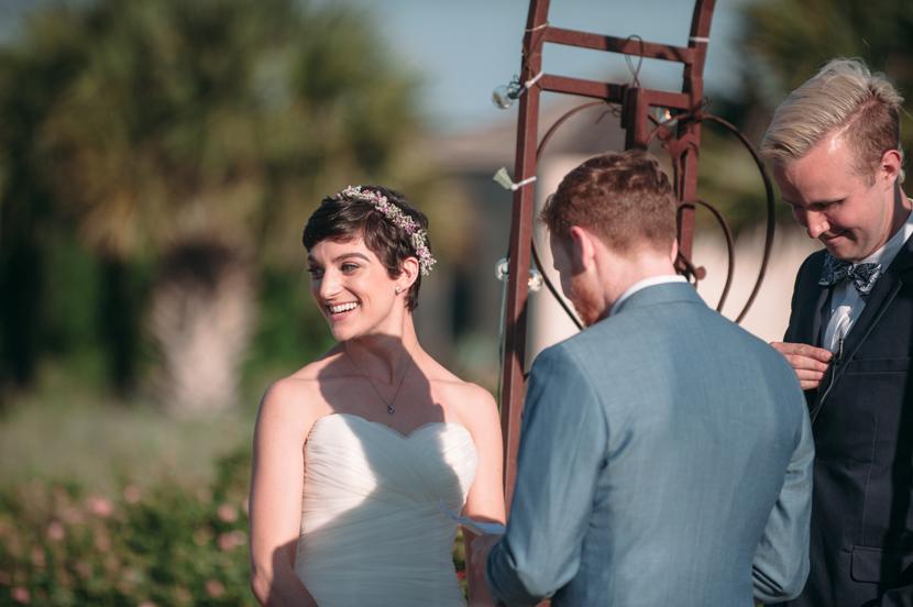 happy bride buda wedding