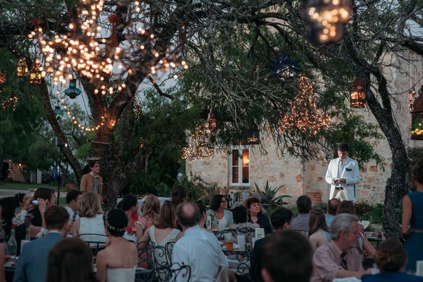 outdoor wedding toasts
