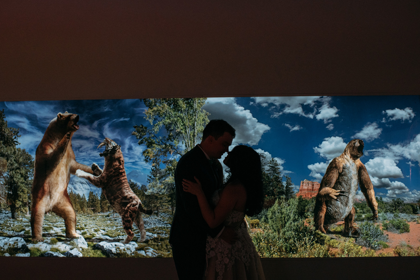 natural science museum wedding pictures