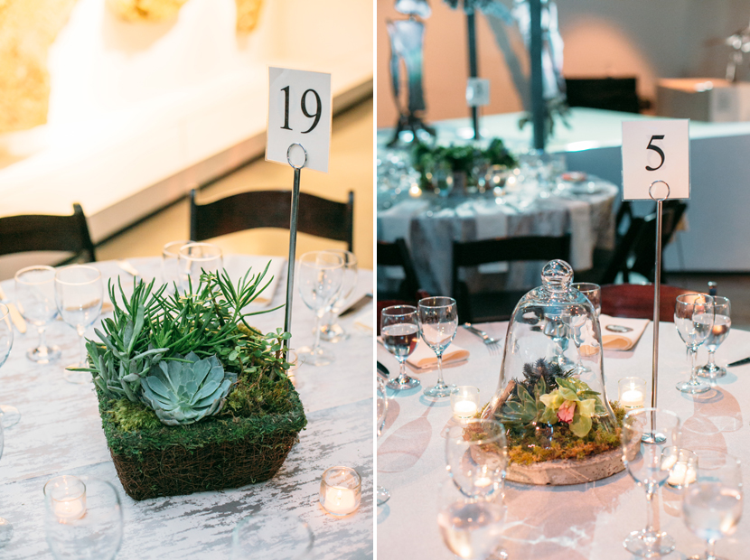 grassy wedding centerpiece