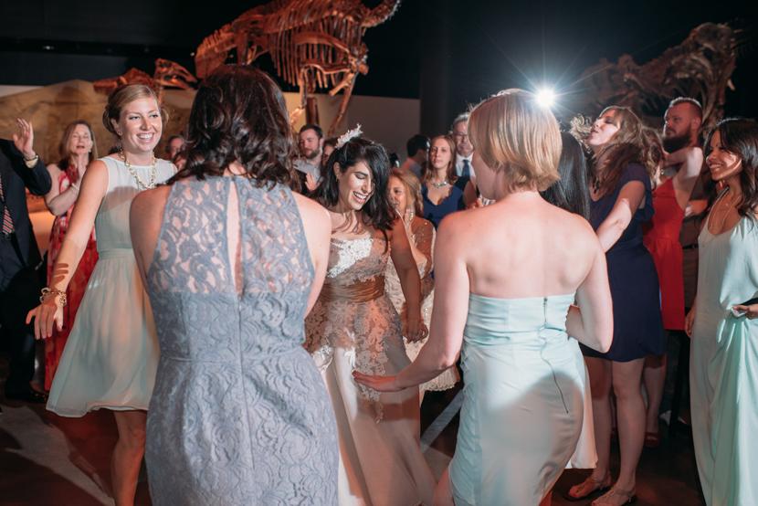 dinosaur museum wedding reception