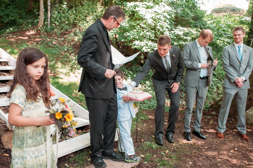 quarry backyard wedding
