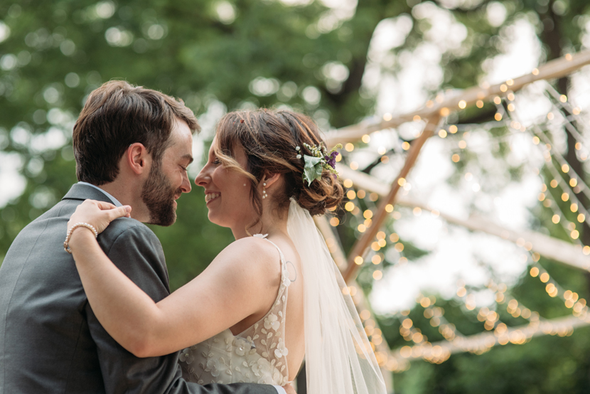 amazing wedding in backyard