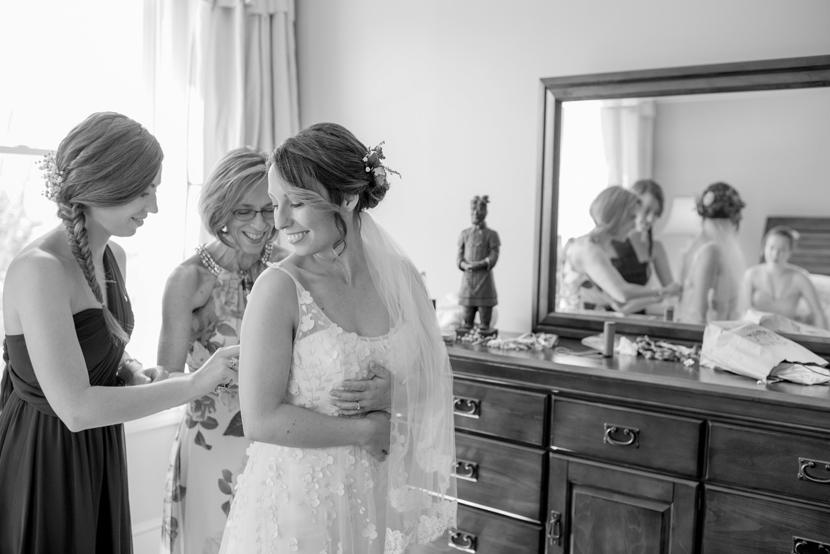 bhldn dress on real bride