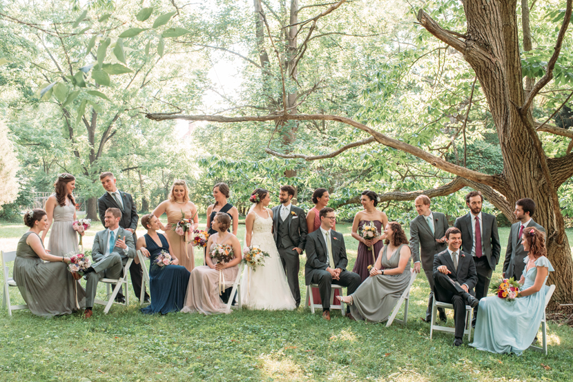 annie leibowitz inspired bridal party style