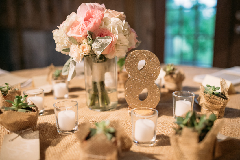 glitter numbers table settings