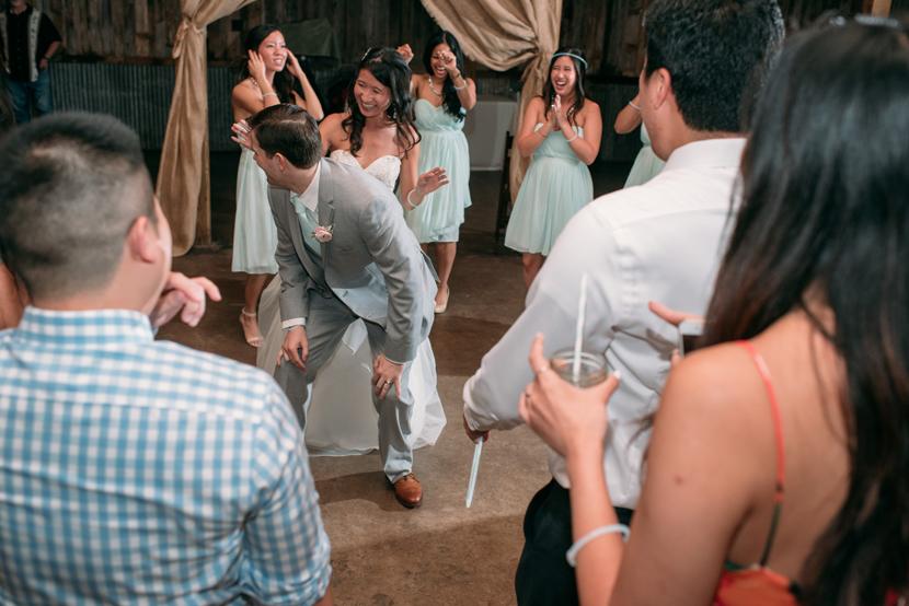 glow sticks during wedding reception