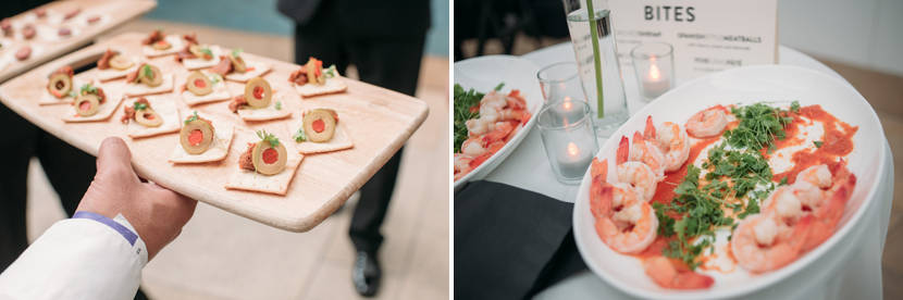 pretty wedding food