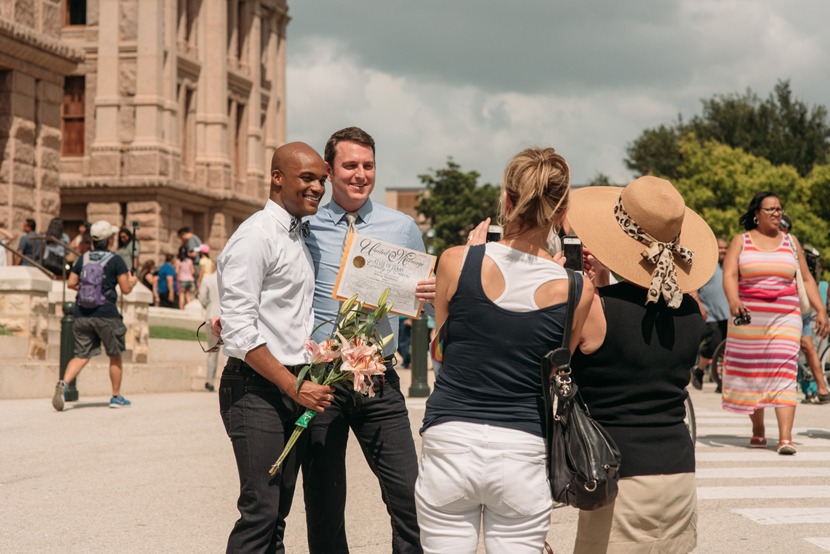 group gay wedding in austin