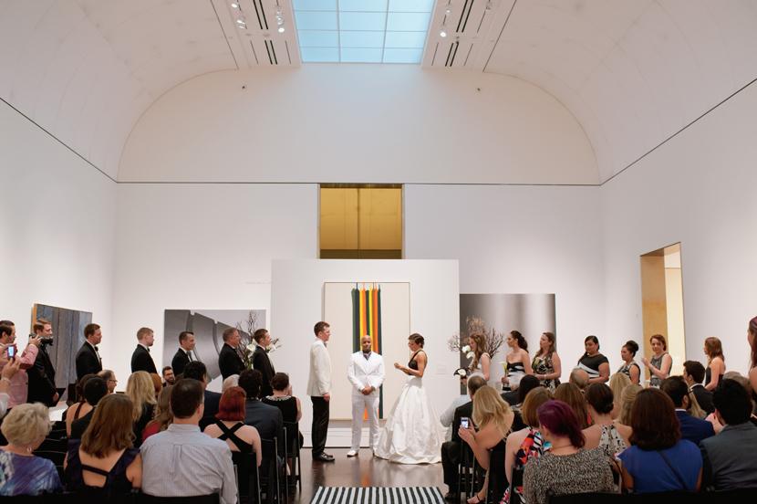 wedding at blanton museum in austin