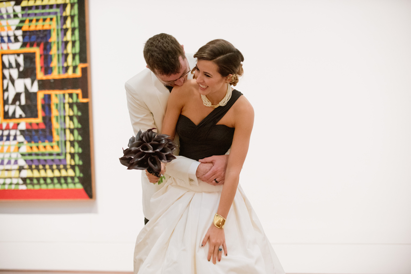 art loving bride groom couple