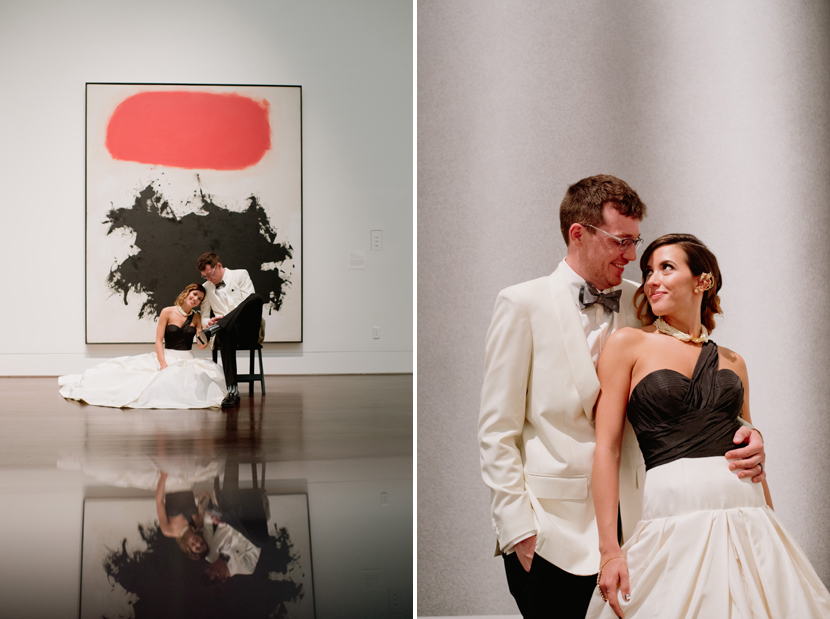 bridal portraits with paintings