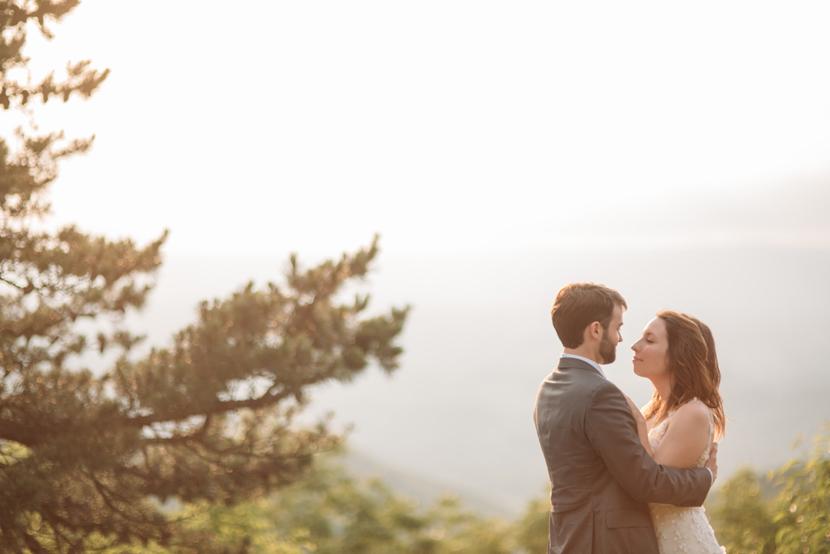 wedding photos on blue ridge mountain