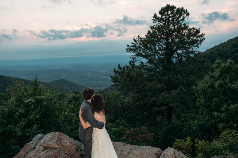 mountaintop wedding photos