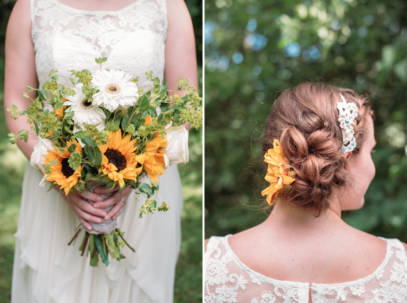 sunflowers as wedding decor