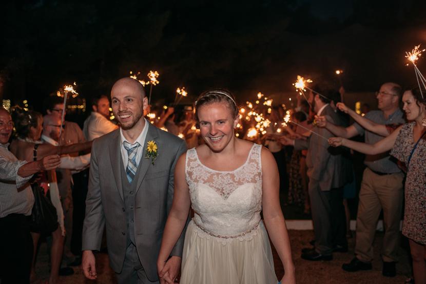 sparkler exits for wedding