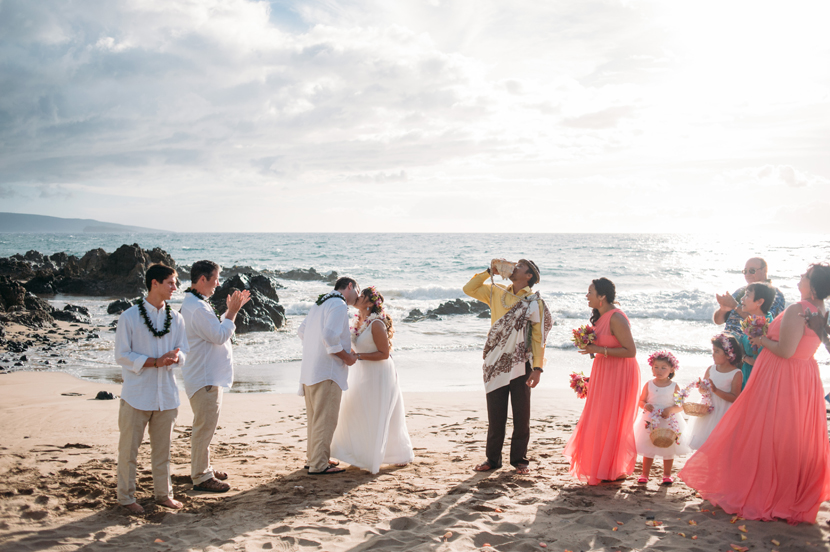 pop up wedding on maui beach