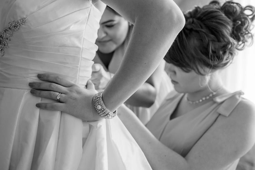 wedding day with best friends