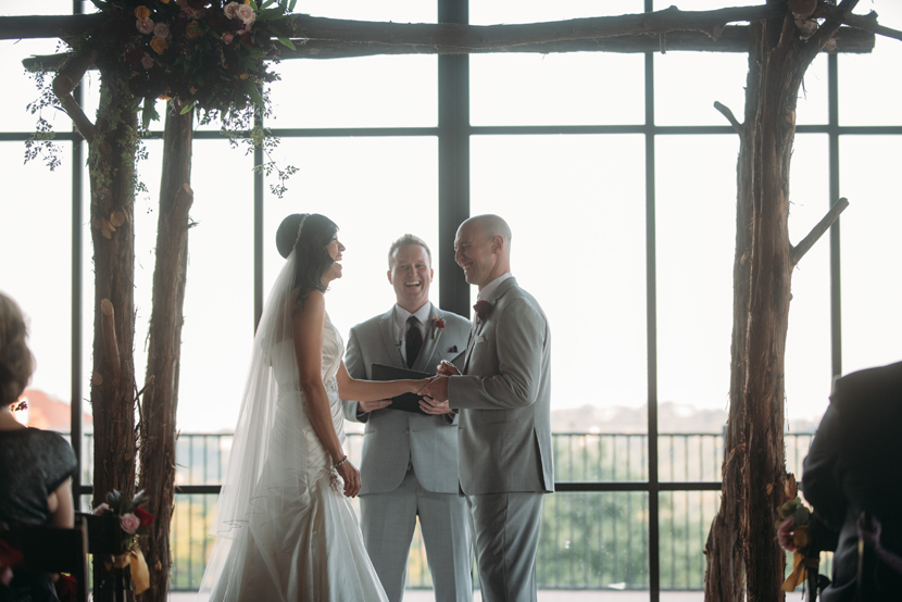vow exchange under a chuppah