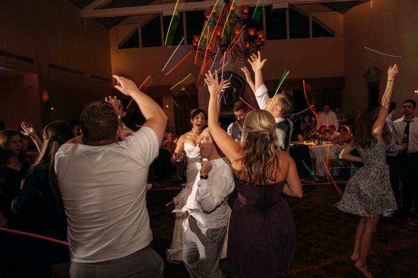 glowstick bomb at a wedding