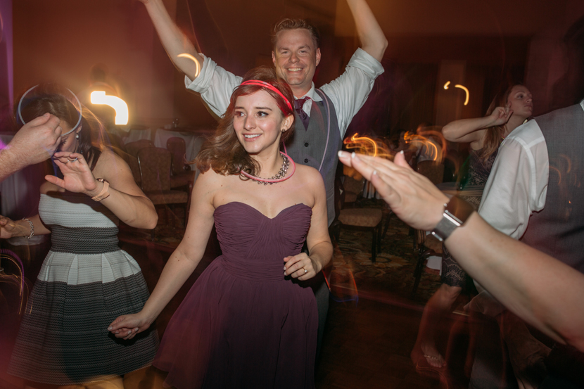 people having fun at wedding reception