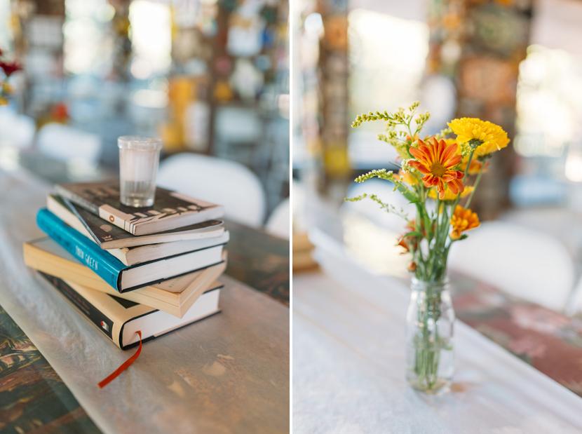 books as wedding centerpieces