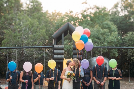 bridal party balloons